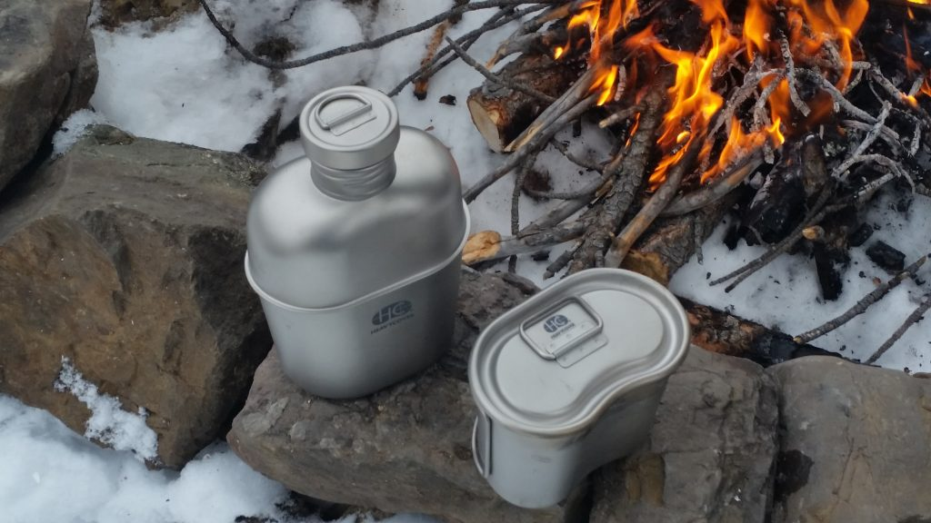 Keith Titanium Heavy Cover Titanium Mess Kit - Top Shot
