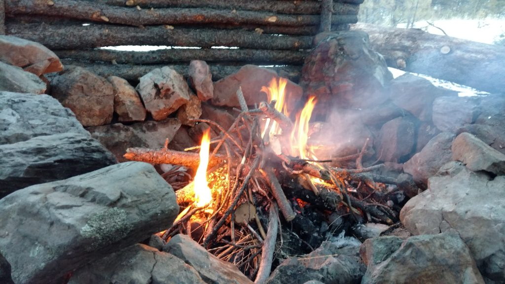 bushcraft basecamp fire