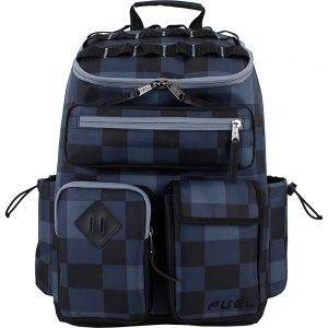 Fuel Top Loader Cargo Backpack Black/Blue Plaid - Fuel Everyday Backpacks