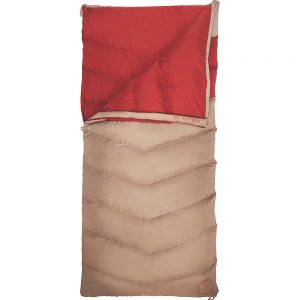 Kelty Galactic 30 Deg 600 Dridown Womens Reg RH Sleeping Bag Tan/Red Dahlia - Kelty Outdoor Accessories