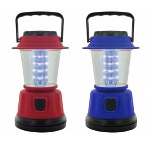 2 Camping Lantern 16 LED Portable Light Weight Cordless Outdoor Lamp Flashlight