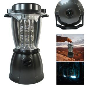 24 LED Portable Lantern Camping Light w/ Compass Dimmer Lamp Outdoor Tent Hiking