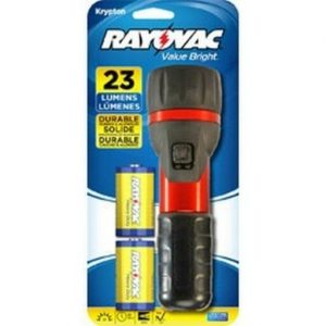 "Rayovac ""Value Bright"" Flashlight With 2D Batteries"