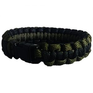 """Every Day Carry 9.5"""" Survival Paracord Bracelet Plastic Side Release Buckle 6ft"""