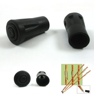 2 Reinforced Rubber Tip End Cap Hammers Trekking Pole Hiking Walking Stick Cane