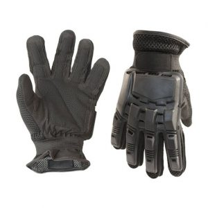 Aleko PBFFG43XL-UNB Paintball Airsoft Outdoor Sports Military Tactical Full Finger Gloves, Black - Extra Large