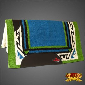 MADE IN USA HILASON WESTERN WOOL FELT SADDLE BLANKET PAD TURQUOISE GREEN