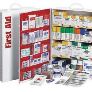 AMERICAN RED CROSS 711248-GR First Aid Kit, Cabinet, Metal Case, Workplace, 150