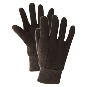 Handmaster Men's Indoor/Outdoor Jersey Cotton Heavy Weight Brown L Work Gloves (Case of 20)