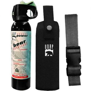 UDAP 9.2oz. 2% CRC Bear Protection Pepper Spray 30ft w/ Belt & Holster - #15CP