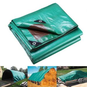 8x10' Reinforced Poly Tarp Reversible All Purpose 7mil Waterproof UV Resistant Tent Cover Tarpaulin