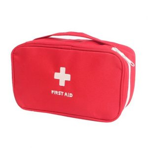 Red Home Travel Sport Camping Medic Emergency First Aid Empty Kit Carry Storage Holder Bag