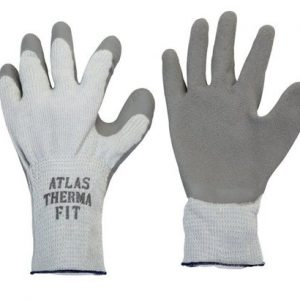 Atlas Therma Fit Unisex Indoor/Outdoor Rubber Latex Cold Weather Work Gloves L Gray (Case of 5)