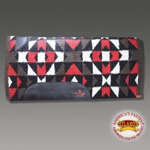 Made In Usa Hilason Western Wool Shock Buster Saddle Blanket Pad White Red