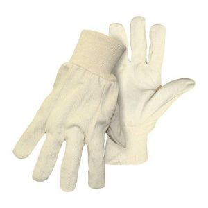 Boss Men's Indoor/Outdoor Canvas Work Gloves White S (Case of 20)