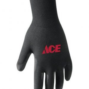 Men's Indoor/Outdoor Polyurethane Coated Black L Work Gloves (Case of 20 packs/1 pair per pack)