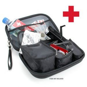 Emergency Survival Gear Kit Case - Fits Portable Flashlights, Water, Solar Blankets, Band-Aids, Pocket Knives and More by USA Gear - Perfect for Natural Disasters, Earthquakes and First Aid Kits