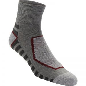 Magellan Outdoors Antifriction Hiking Quarter Socks 2 Pack Gray/Zinfandel, Large - Western And Thermal Socks at Academy Sports