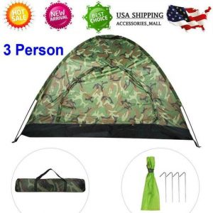 3 Person Waterproof Outdoor Camping 4 Season Folding Tent Camouflage Hiking USA