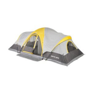 Tahoe Gear Manitoba 14-Person Family Outdoor Camping Tent with Rainfly, Orange
