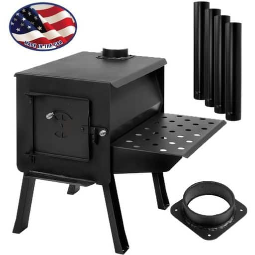 """GRIZZLY"" Portable Camp/Cook Wood Stove Kit"""