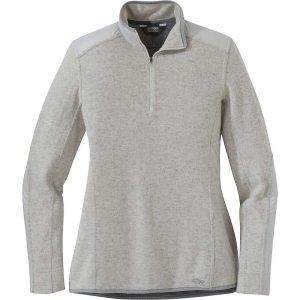Outdoor Research Women's Cyprus Quarter Zip Jacket - Small - Pebble Heather