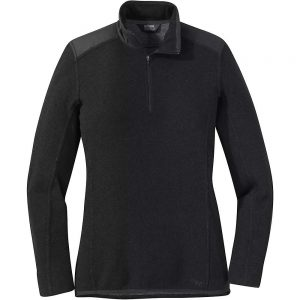 Outdoor Research Women's Cyprus Quarter Zip Jacket - Small - Black Heather