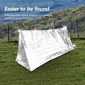FAGINEY Outdoor Emergency Shelter Blanket Reflective Camping Hiking Survival Portable Tent, Camping Tent, Emergency Tent