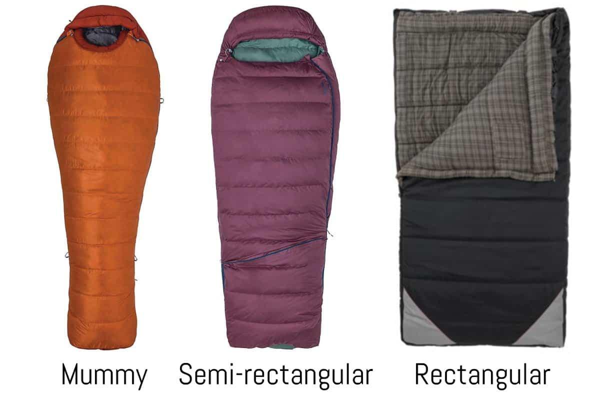 Sleeping Bag Shape