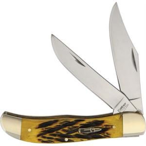 Frost CAL164 Caliber Folding Hunter Sage Folding Pocket Knife with Sagebrush Jigged Bone Handle