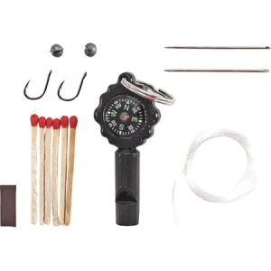 Schrade SK1 Survival Kit Whistle/Compass with Black Composition