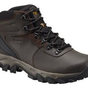 Columbia Newton Ridge Plus II Waterproof Hiking Boots for Men - Cordovan/Squash - 9.5W