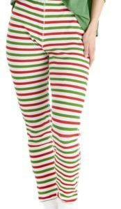 Life is Good Holiday Stripe Holiday Squad Thermal Sleep Pants for Ladies Cloud White - XXL