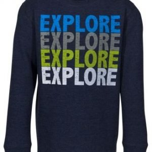Outdoor Kids Explore Graphic Crew Thermal Long-Sleeve Shirt for Boys - Navy Blazer - XL