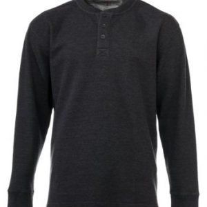 RedHead Thermal Henley Long-Sleeve Shirt for Men - Charcoal - 3XLT