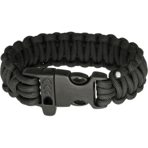 Combat Ready 361 Survival Bracelet Black with Paracord Construction