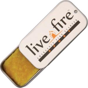 Live Fire 05 Live Fire Fire Starter Sport Single with Waterproof